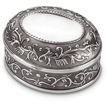 Oval Silver Trinket Box tb:1000:ss
