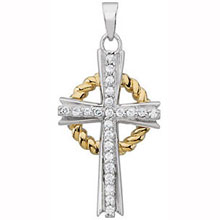 Grace Cross Pendant Necklace cr:1043:ss