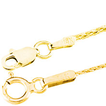 Wheat Chain in Yellow Gold ch:1001:y