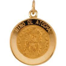 Nino de Atocha 14kt Yellow Gold Medal