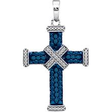Blue Diamond Pave Cross