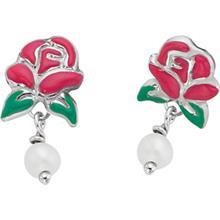 Disney Belle Rose Pearl Earrings