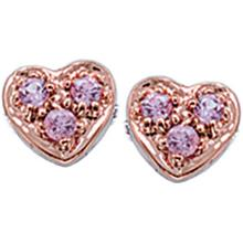 Disney Pink Sapphire Heart Earrings