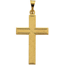 Cotised Cross Solid 14 Karat Yellow Gold cr:1013:y