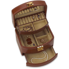 Brown Leather Jewelry Case rb:1007:l