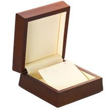 Amber Wood Pendant or Earring Box b:1006:b