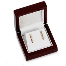 Cherrywood Collection Earring or Pendant Box b:1010:b