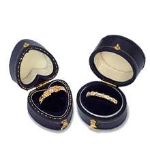 Blue Leatherette Ring Boxes b:1000:b