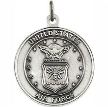 Saint Christopher United States Air Force Sterling Silver Necklace