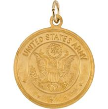 Saint Christopher United States Army Yellow Gold Medal