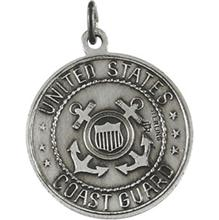 Saint Christopher United States Coast Guard Silver Necklace