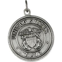 Saint Christopher United States Navy Sterling Silver Necklace
