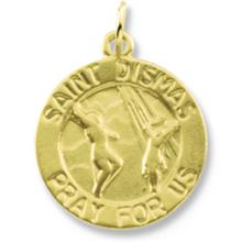 St Dismas Round Yellow Gold Medal