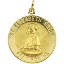St Elizabeth Seton 14kt Yellow gold Medal