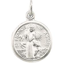 St Francis of Assisi White gold Tiny Pendant
