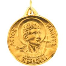 St Genesius Yellow Gold Medal