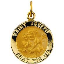 St Joseph Round 14K Yellow Gold Medal