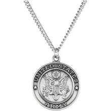 St Michael United States Army PROTECT ME Necklace in Sterling Silver With Chain