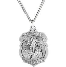 St. Michael Badge Necklace