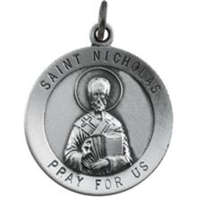 St Nicholas Round Sterling Silver Medal