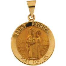 St Patrick 14kt Yellow Gold Hollow Medal
