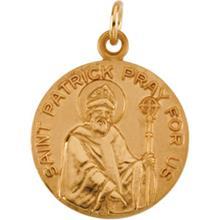 St Patrick 14kt Yellow Gold Pendant