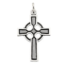 Celtic Cross Solid Sterling SIlver cr:1026:s
