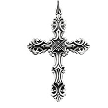 Fancy Design Cross Solid Sterling Silver cr:1031:s
